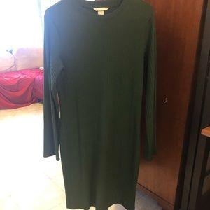 H&M Green Sweater Dress
